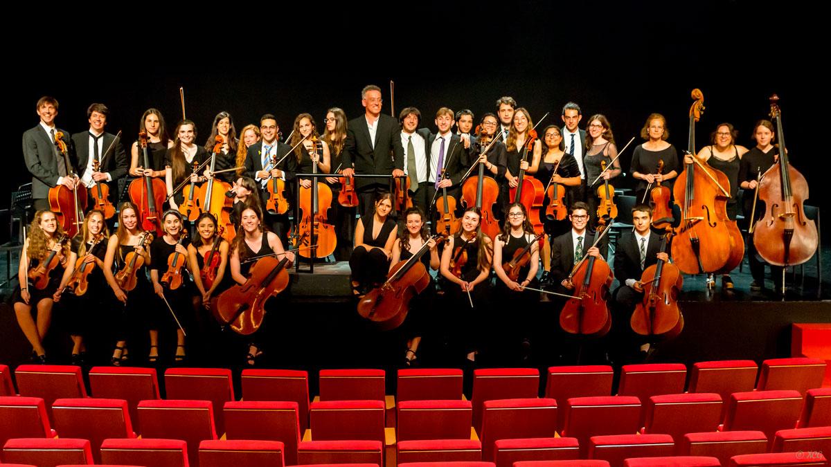 Orquestra Händel amb el director Rafael Fabregat