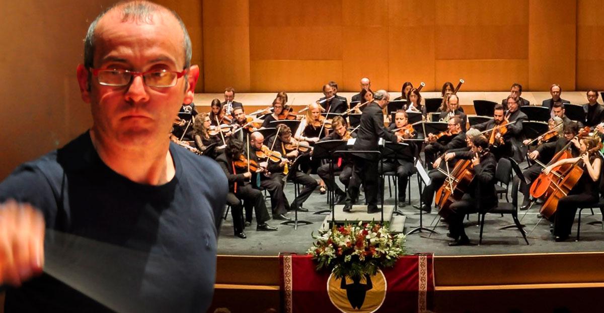 Francesc Estévez amb l'Orquestra de la Marina Alta