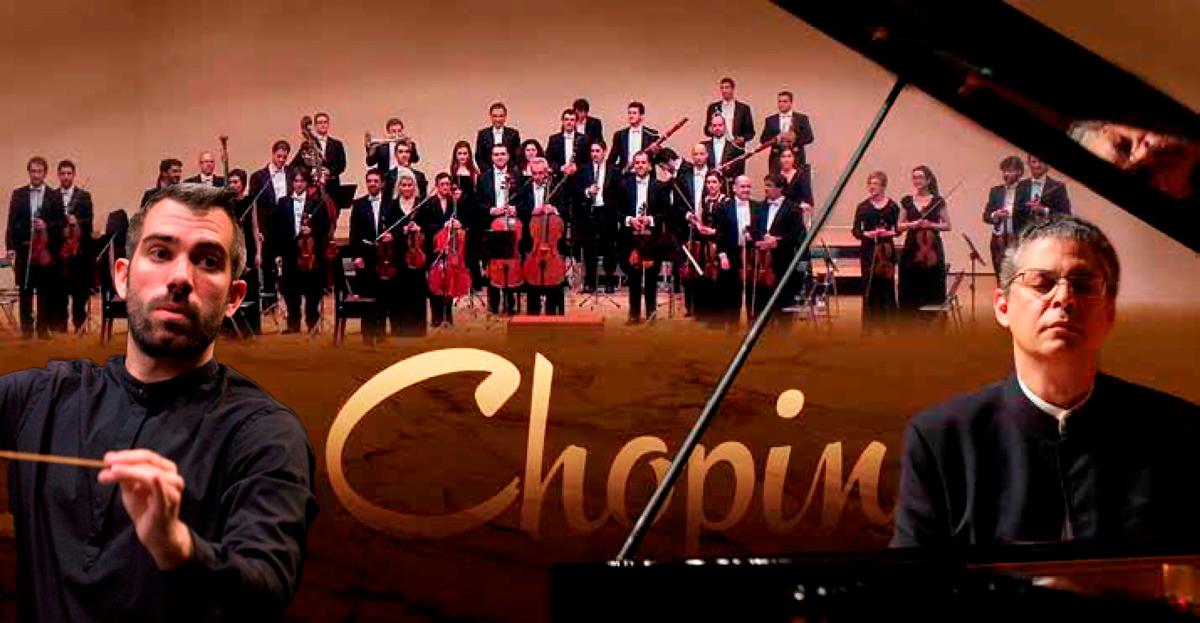Gaetan Kuchta i Leonel Morales amb l'Orquestra Camerata XXI-Ciutat de Reus